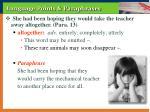 language points paraphrases11