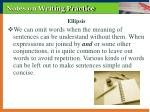notes on writing practice
