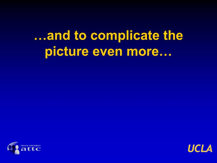 …and to complicate the picture even more…