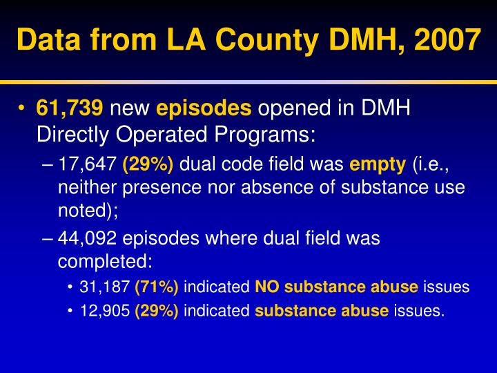 Data from LA County DMH, 2007