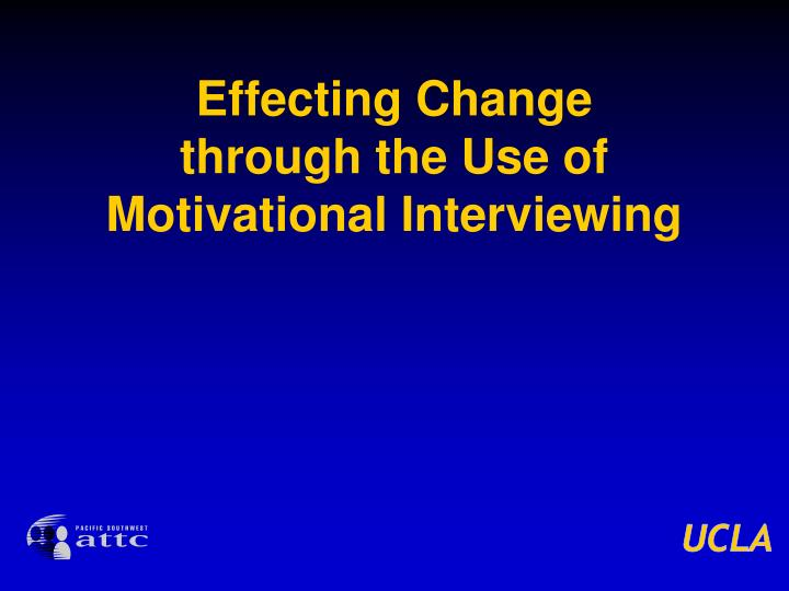 Effecting Change