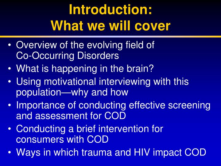 Introduction what we will cover