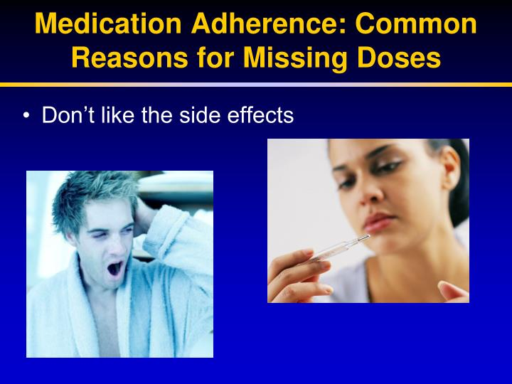 Medication Adherence: Common Reasons for Missing Doses