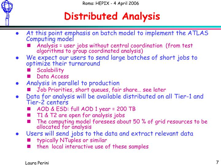 Distributed Analysis