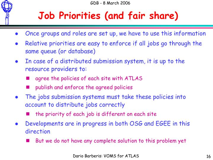 Job Priorities (and fair share)