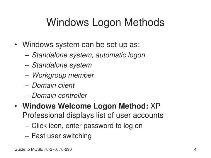 Windows Logon Methods