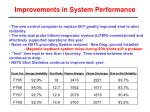 improvements in system performance