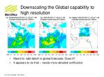 downscaling the global capability to high resolution2