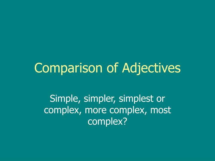 comparison of adjectives n.