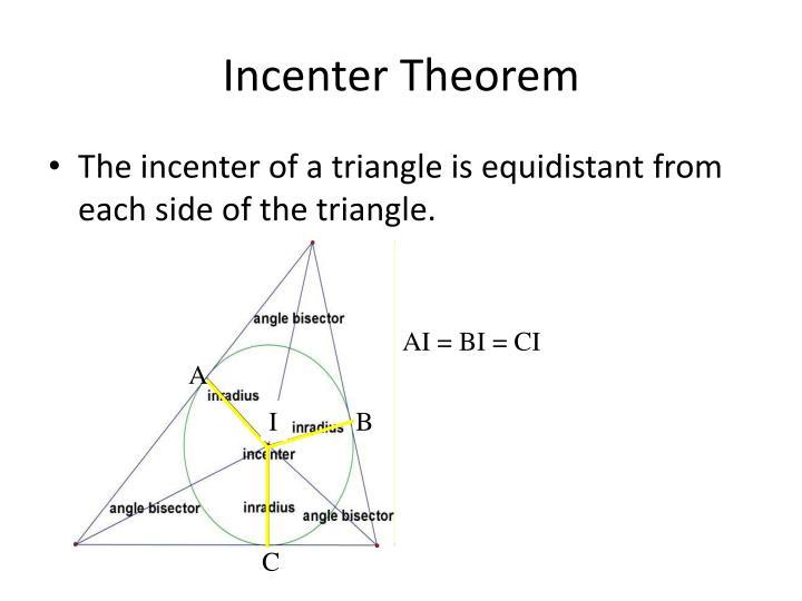 Incenter Theorem