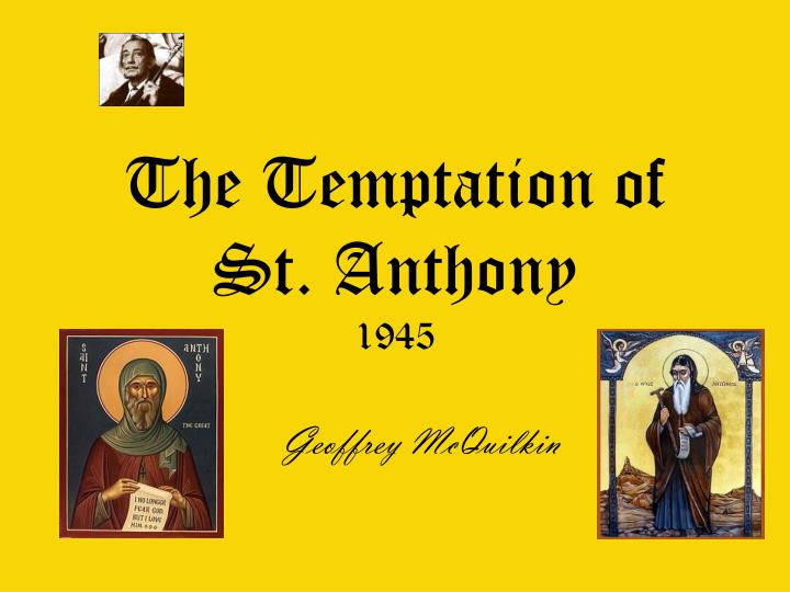 the temptation of st anthony 1945 n.