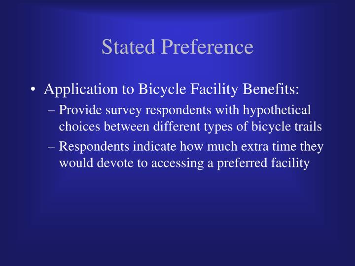 Stated Preference