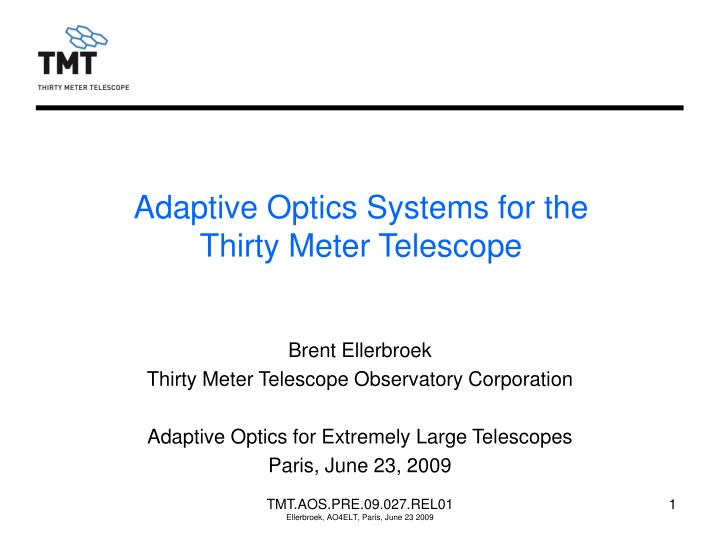 adaptive optics systems for the thirty meter telescope n.