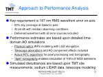 approach to performance analysis