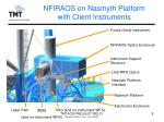 nfiraos on nasmyth platform with client instruments