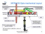 nfiraos opto mechanical layout