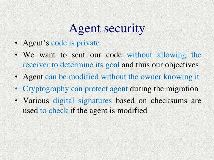 Agent security