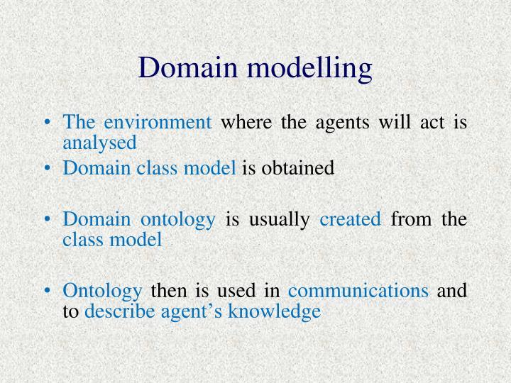 Domain modelling