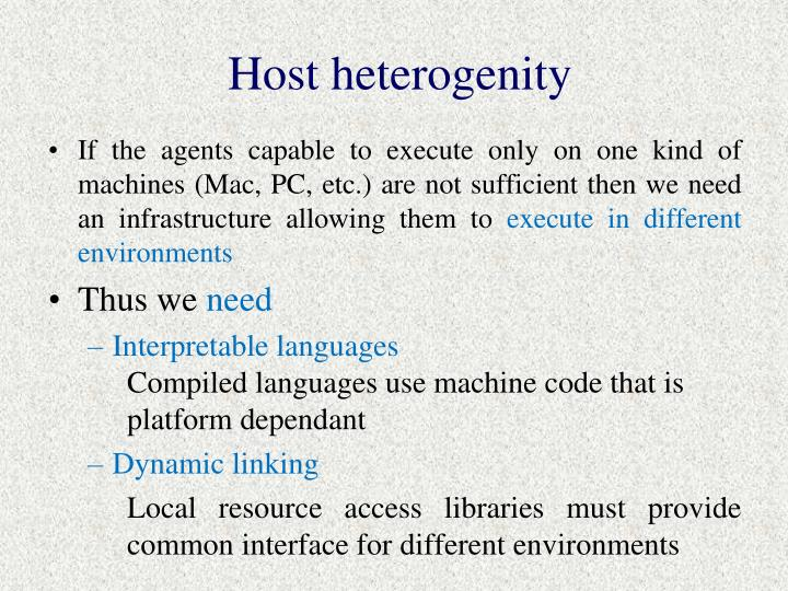 Host heterogenity