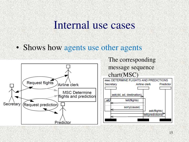 Internal use cases