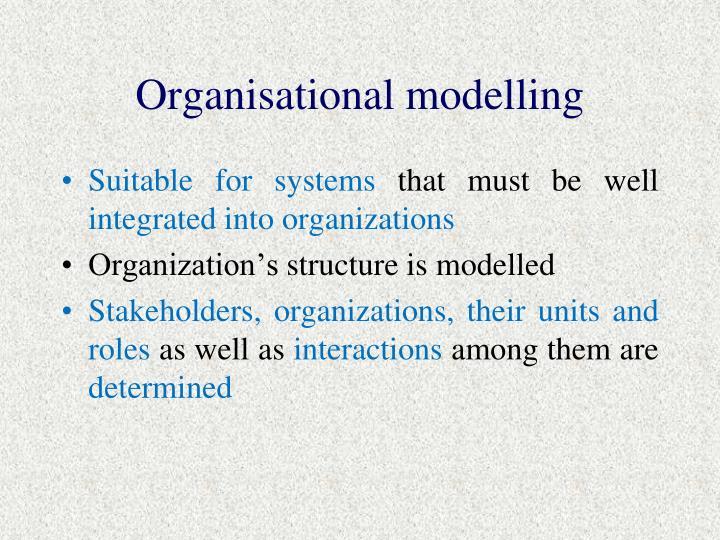 Organisational modelling