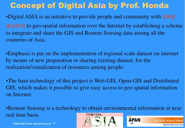 Concept of Digital Asia by Prof. Honda