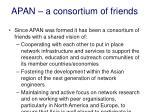 apan a consortium of friends