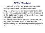 apan members