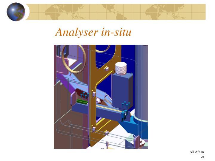 Analyser in-situ