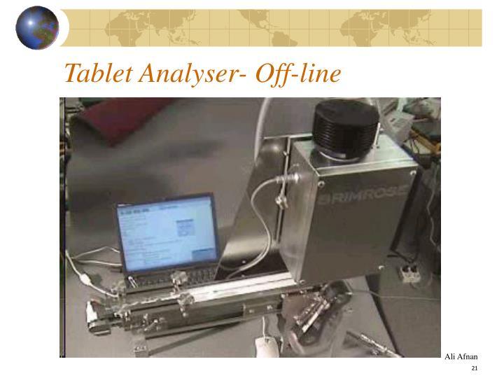 Tablet Analyser- Off-line