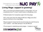 living wage support is growing