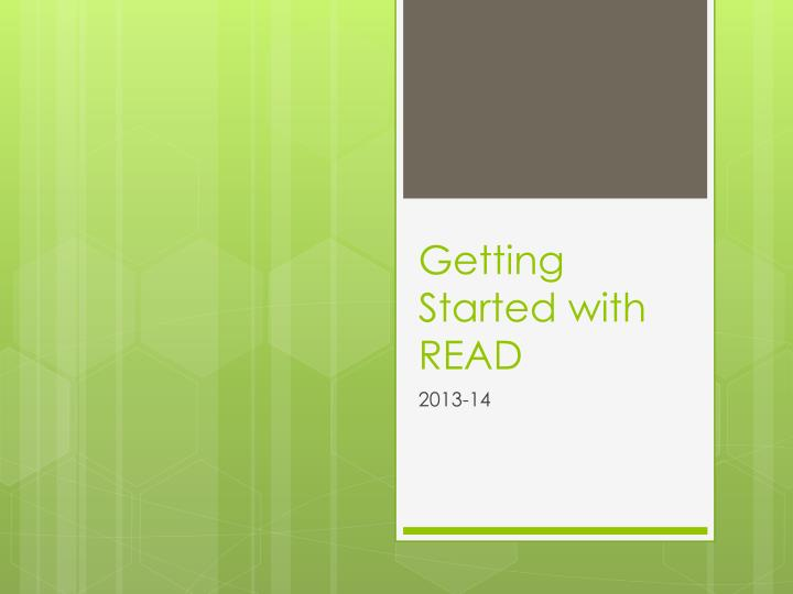 getting started with read n.