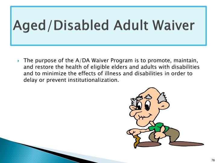 Aged/Disabled Adult Waiver