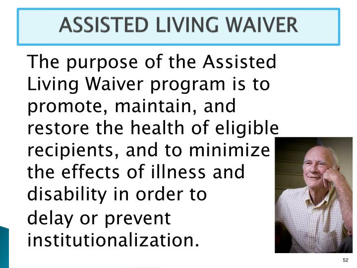ASSISTED LIVING WAIVER