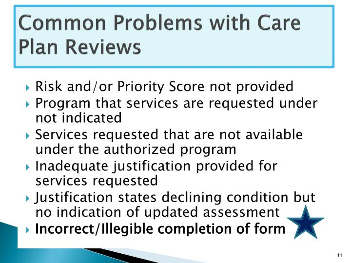 Common Problems with Care Plan Reviews
