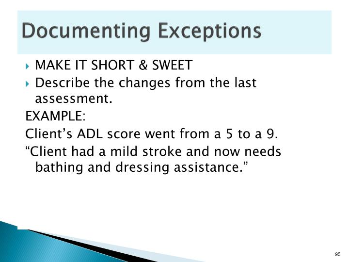 Documenting Exceptions