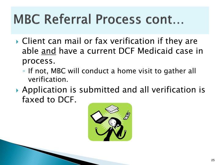 MBC Referral Process cont…