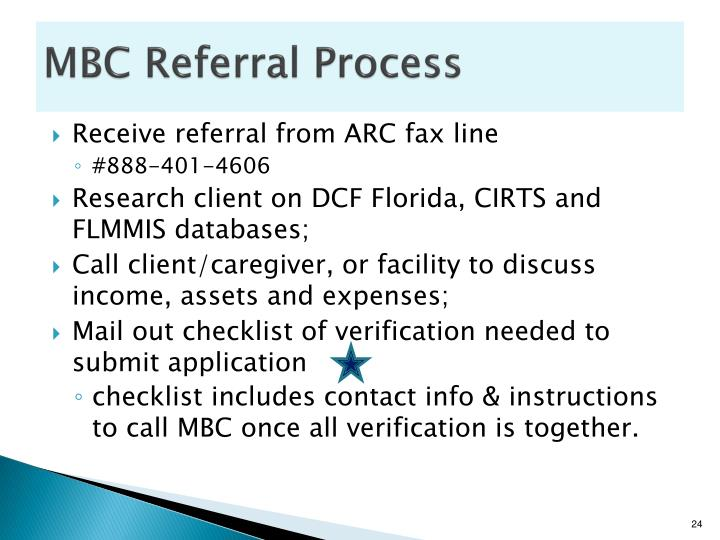 MBC Referral Process