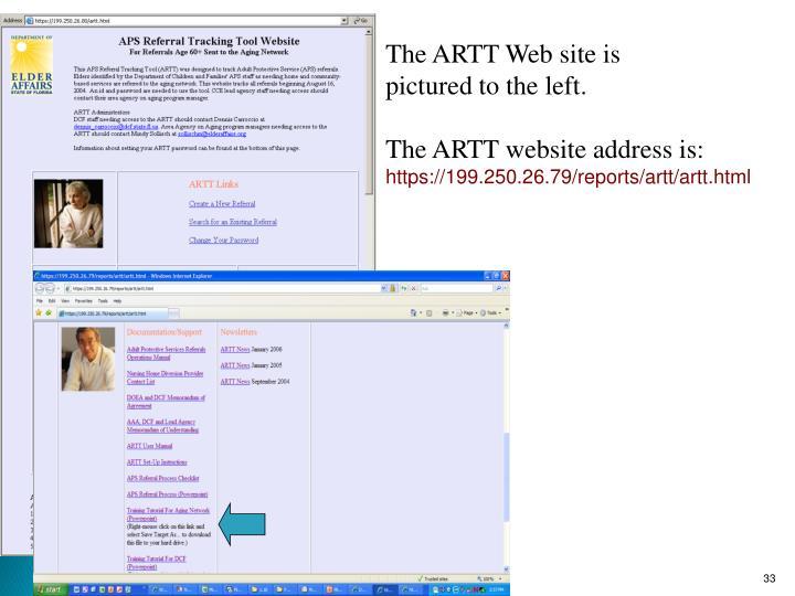 The ARTT Web site is