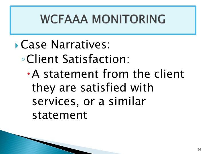 WCFAAA MONITORING