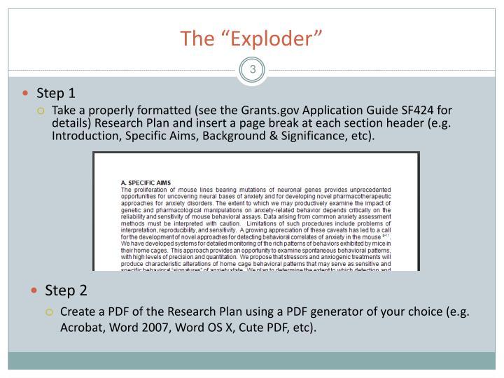 The exploder