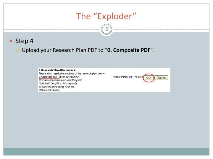 """The """"Exploder"""""""