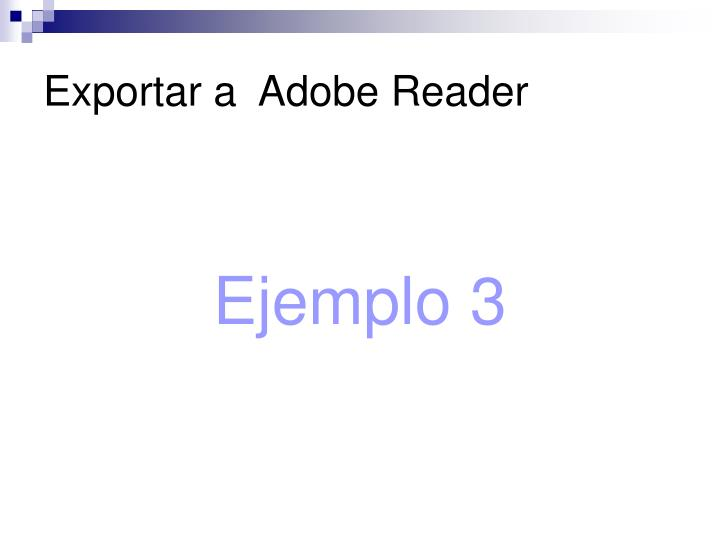 Exportar a  Adobe Reader
