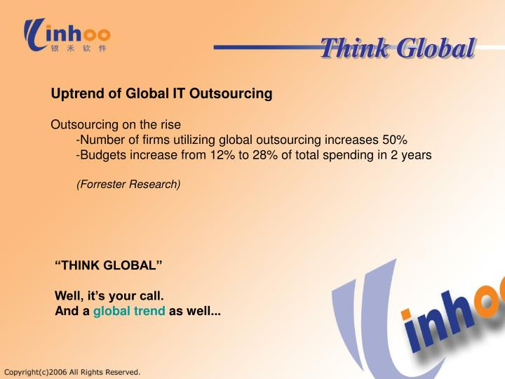 global it outsourcing essay Essay on outsourcing in an increasingly competitive, business development depends on the effective management of assets, including by the maximum concentration of resources on the core activity of the organization.