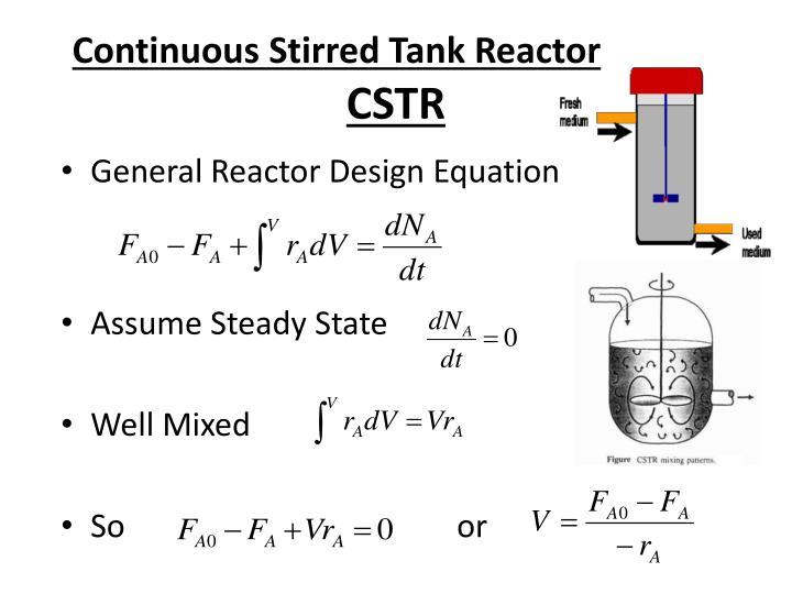 PPT Mole Balance For Chemical Reaction Engineering Design - Cstr reactor design