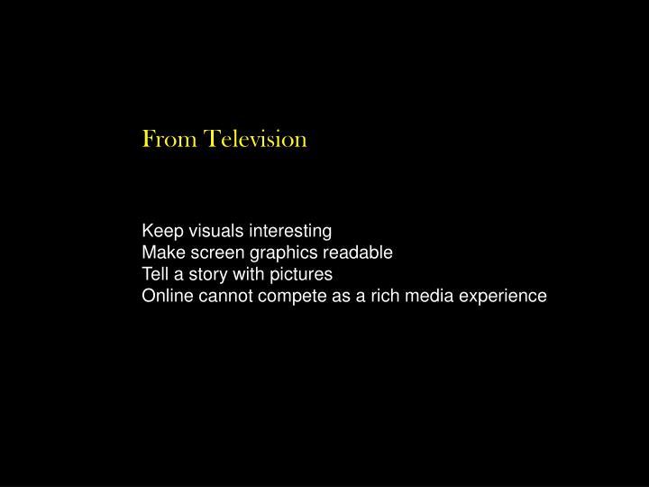 Keep visuals interesting