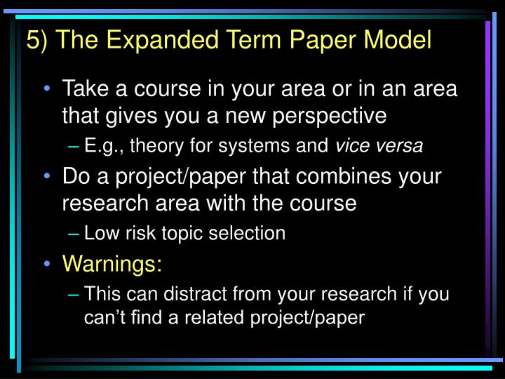western expansion term paper Free essays available online are good but they will not follow the guidelines of your particular writing assignment if you need a custom term paper on humanities essays: the transcontinental railroad and westward expansion, you can hire a professional writer here to write you a high quality authentic essay.