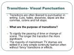 transitions visual punctuation