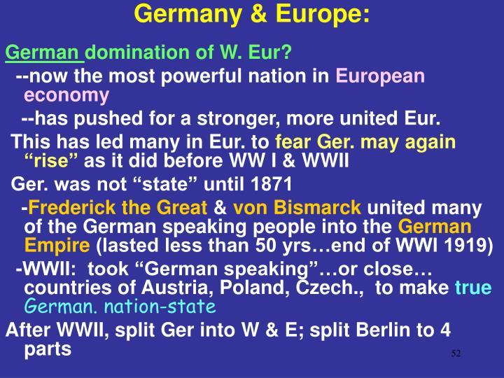 Germany & Europe: