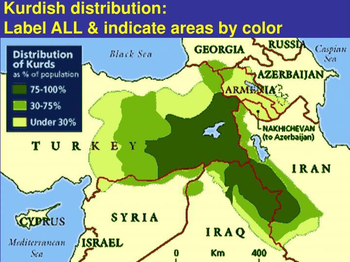 Kurdish distribution:
